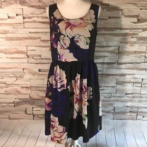 Adrianna Papell Floral Dress Sz 14 (N06)